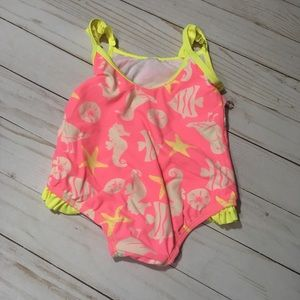 Carter's Swim - Carter's 18m pink and yellow swimsuit
